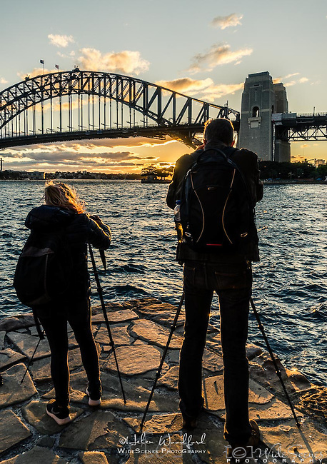 Photo Walk Attendees at Milsons Point & across the Bridge walk in Sydney, NSW, Australia