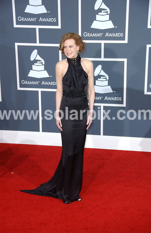 **ALL ROUND PICTURES FROM SOLARPIX.COM**.**SYNDICATION RIGHTS FOR UK, AUSTRALIA, DENMARK, PORTUGAL, S. AFRICA, SPAIN & DUBAI (U.A.E) ONLY**.arrivals for the 52nd Annual GRAMMY Awards at the Staples Center at the Los Angeles, CA, USA. 31 January 2010..This pic: Nicole Kidman..JOB REF: 10591 PHZ Ortega   DATE: 31_01_2010.**MUST CREDIT SOLARPIX.COM OR DOUBLE FEE WILL BE CHARGED**.**MUST NOTIFY SOLARPIX OF ONLINE USAGE**.**CALL US ON: +34 952 811 768 or LOW RATE FROM UK 0844 617 7637**