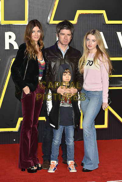 Noel Gallagher and Sara MacDonald at the European Premiere of 'Star Wars: The Force Awakens' at Leicester Square on December 16, 2015 in London, England.<br /> CAP/PL<br /> &copy;Phil Loftus/Capital Pictures