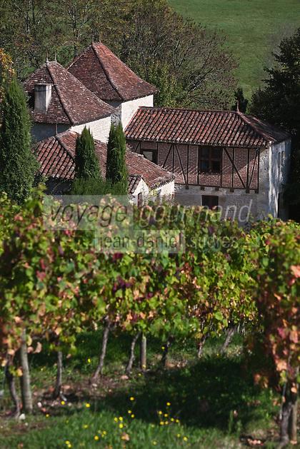 Europe/Europe/France/Midi-Pyrénées/46/Lot/Caillac: Vignoble AOC Cahors du  Château  de La Grézette