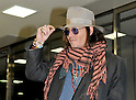 Actor Johnny Depp arrives at Narita Airport