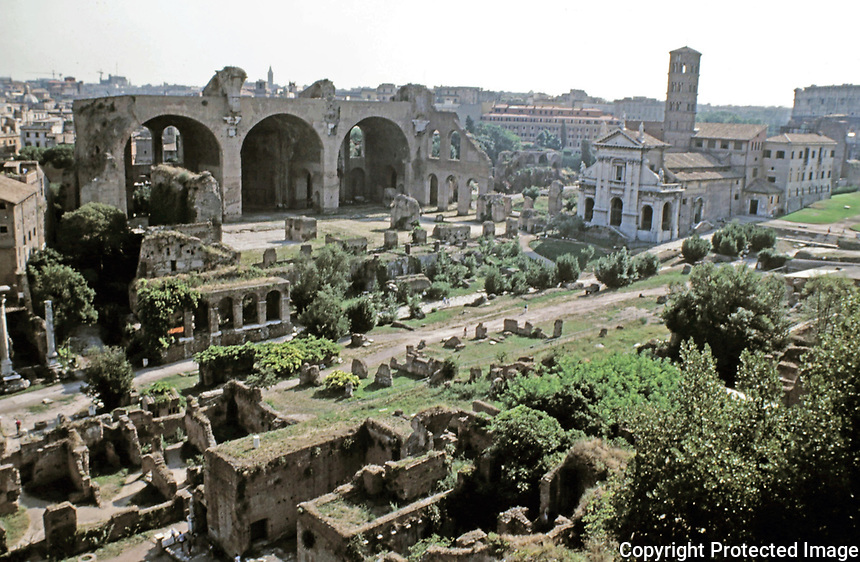 View of the Roman Forum, Rome, Italy