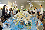Elegant party decor, table settings, elegant floral arrangements, gourmet cuisine for an elegant May 30 Bat Mitzvah in Westchester, New York.