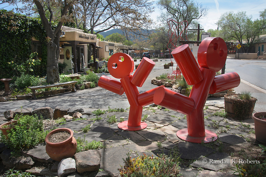 Sculpture outside a Canyon Road gallery, Santa Fe, New Mexico.
