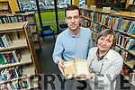"Tralee Librarians Cal Sherin and Aileen Lynch with ""Ruby of a thousand dreams"" which was due back in 1949."