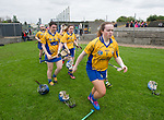 The Clare team arrive onto the field for their Minor A All-Ireland final against Galway at Nenagh.  Photograph by John Kelly.