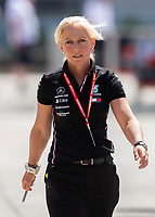 Angela Cullen (Lewis Hamilton's assistant) during the Bahrain Grand Prix at Bahrain International Circuit, Sakhir,  on 31 March 2019. Photo by Vince  Mignott.