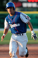 27 july 2010: Boris Marche of France runs to third base during Germany 10-9 victory over France, in day 5 of the 2010 European Championship Seniors, in Stuttgart, Germany.