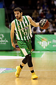 7th January 2018, San Pablo Sports Municipal Palace, Seville, Spain; Endesa League Basketball, Real Betis Energia Plus versus FC Barcelona Lassa; Mikel Uriz from Betis Plus brings the ball foward