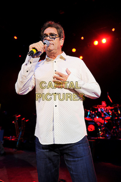 Huey Lewis<br /> Huey Lewis and The News performing in concert, Shepherd's Bush Empire, London, England. <br /> 1st October 2013<br /> on stage live gig performance music half length white shirt glasses singing   <br /> CAP/MAR<br /> &copy; Martin Harris/Capital Pictures