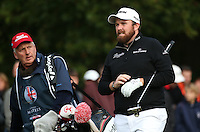 Shane Lowry (IRL) heads off down the 17th  during the Final Round of the British Masters 2015 supported by SkySports played on the Marquess Course at Woburn Golf Club, Little Brickhill, Milton Keynes, England.  11/10/2015. Picture: Golffile | David Lloyd<br /> <br /> All photos usage must carry mandatory copyright credit (© Golffile | David Lloyd)