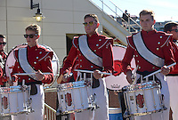 NWA Democrat-Gazette/BEN GOFF @NWABENGOFF<br /> The Razorback Marching Band drumline plays for fans on Saturday Oct. 8, 2016 before the Razorbacks football game against Alabama at Razorback Stadium in Fayetteville.