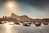 BRAZIL, Rio de Janiero, Bar Urca, Sea Wall