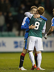 Andy Halliday and Fraser Fyvie kiss and make up at full-time