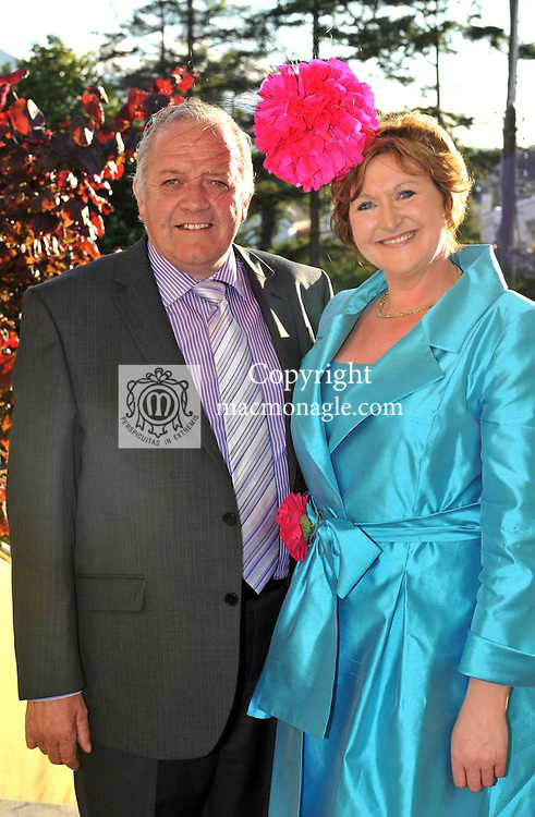 Pictured at the Randles Hotel, Elegance & Decadence Après Race Partyon Thursday evening were Peadar Ward, Monaghan and Emma McCormack, Castlebar..Picture by Don MacMonagle..PR photo from Randles Hotel