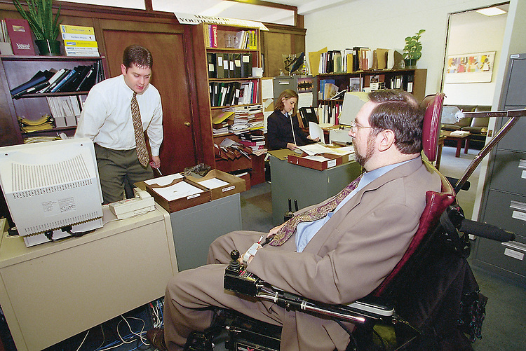 11/10/99.DISABILITY BILL--Lobbyist Tony Young visits Sen. Ted Kennedy's office to lobby in favor of the disability.bill..CONGRESSIONAL QUARTERLY PHOTO BY DOUGLAS GRAHAM
