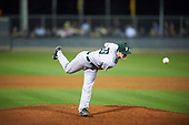 Siena Saints relief pitcher Danny Hobbs (33) during a game against the UCF Knights on February 17, 2017 at UCF Baseball Complex in Orlando, Florida.  UCF defeated Siena 17-6.  (Mike Janes/Four Seam Images)