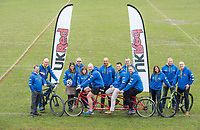 Picture by Allan McKenzie/SWpix.com - 04/04/2018 - Rubgy League - RL Cares Ride to Wembley - Provident Stadium, Bradford, England - The RL Cares team preparing to go on the Ride to Wembley.
