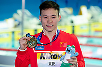 XIE Siyi CHN gold  medal<br /> Men's 3m Springboard <br /> Gwangju South Korea 18/07/2019<br /> Diving <br /> 18th FINA World Aquatics Championships<br /> Nambu University Aquatics Center <br /> Photo © Andrea Staccioli / Deepbluemedia / Insidefoto