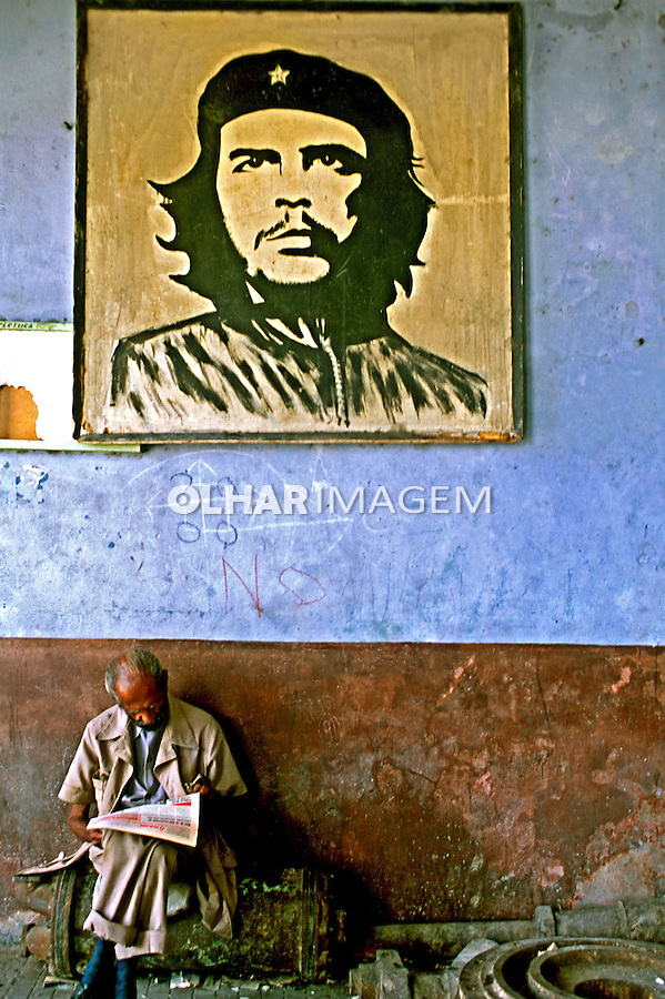 Retrato de Che Guevara em Havana, Cuba. 1992. Foto de Nair Benedicto.