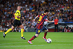 UEFA Champions League 2013/2014.<br /> FC Barcelona vs AFC Ajax: 4-0 - Game: 1.<br /> 4-0: Lionel Messi.