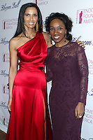 NEW YORK CITY, NY, USA - MARCH 07: Padma Lakshmi, Eunice Omole at the 6th Annual Blossom Ball Benefiting Endometriosis Foundation Of America held at 583 Park Avenue on March 7, 2014 in New York City, New York, United States. (Photo by Jeffery Duran/Celebrity Monitor)