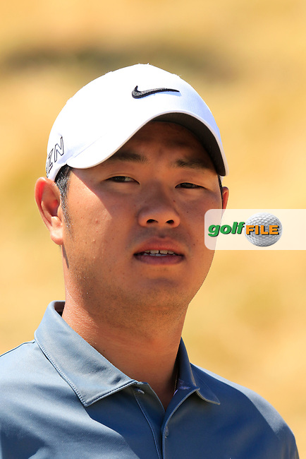 Shunsuke Sonoda (JPN) during Wednesday's Practice Day of the 2015 U.S. Open 115th National Championship held at Chambers Bay, Seattle, Washington, USA. 6/17/2015.<br />