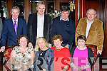 Pictured at the Eircom Sports and Social Club Party in the Grand Hotel, Tralee on Saturday night front l-r: Renee Slattery, Eileen Moynihan, Sheila O'Donoghue, Clara Reidy. Back row l-r: Eircom Staff who are Retireing, John Slattery, Danny Moynihan, John Donoghue and Aidan Reidy.