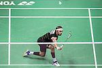 Jan O Jorgensen of Denmark competes against Sameer Verma of India during their Men's Singles Semi-Final of YONEX-SUNRISE Hong Kong Open Badminton Championships 2016 at the Hong Kong Coliseum on 26 November 2016 in Hong Kong, China. Photo by Marcio Rodrigo Machado / Power Sport Images