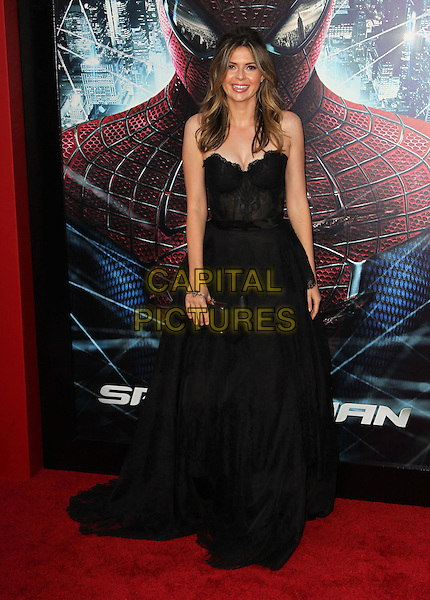 "Carly Steel.Los Angeles Premiere Of ""The Amazing Spider-Man"" Held The at Regency Village Theatre, Westwood, California, USA..June 28th, 2012.full length dress black strapless  .CAP/ADM/FS.©Faye Sadou/AdMedia/Capital Pictures."
