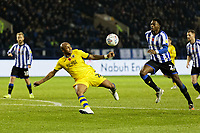 Andre Ayew of Swansea City takes a shot of target during the Sky Bet Championship match between Sheffield Wednesday and Swansea City at Hillsborough Stadium, Sheffield, England, UK. Saturday 09 November 2019