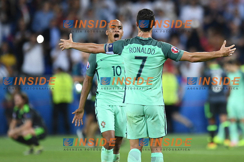 Cristiano Ronaldo celebrates with Joao Mario Esultanza <br /> Lyon 06-07-2016 Stade de Lyon Football Euro2016 Portugal - Wales / Portogallo - Galles Semi-finals / Semifinali <br /> Foto Matteo Gribaudi  / Image / Insidefoto