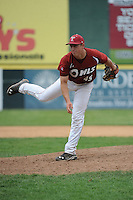 Temple University Owls pitcher Zach Batchelor (45) during a game against the University of Louisville Cardinals at Campbell's Field on May 10, 2014 in Camden, New Jersey. Temple defeated Louisville 4-2.  (Tomasso DeRosa/ Four Seam Images)