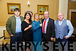 Ruby Wedding Anniversary: Larry & Louise O'Donovan, Listowel celebrating their 40th wedding anniversary with family at the Listowel Arms Hotel on Saturday night last. L - R : Charlie, Lisa, Louise, Larry & Danny O'Donovan.
