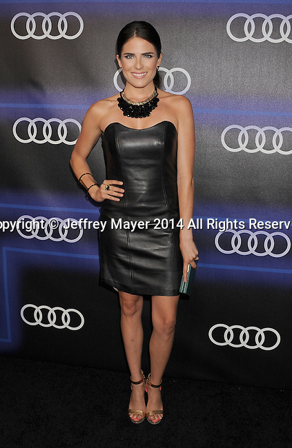 LOS ANGELES, CA- AUGUST 21: Actress Karla Souza arrives at the Audi Emmy Week Celebration at Cecconi's Restaurant on August 21, 2014 in Los Angeles, California.
