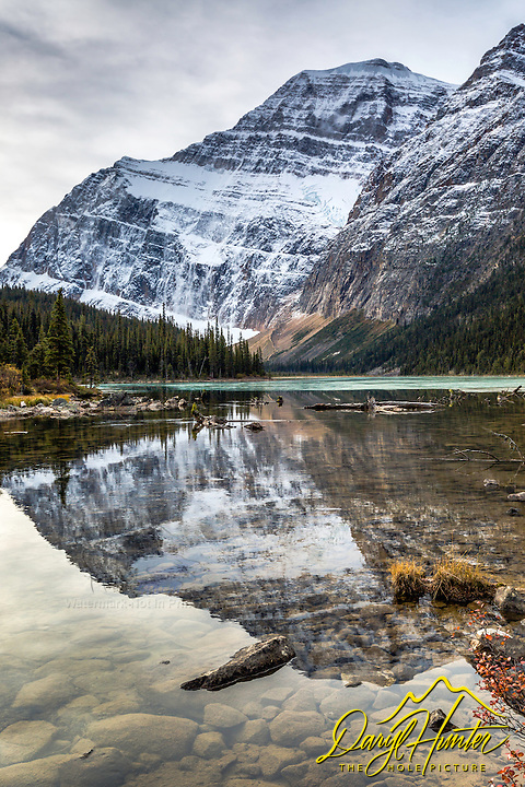 Cavell Lake reflection Mt Edith Cavell.  One of the many gems of Jasper National Park