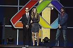01.12.2016 Barcelona. Los 40 music awards 2016. Aina i Marc Clotet