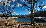 WOODBURY,  CT-031219JS06- Town officials are looking into changes to the pond at Hollow Park in Woodbury. They are considering putting in grass where the beach is located and make it a picnic area. <br /> Jim Shannon Republican American