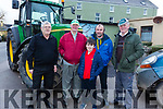 Donal Griffin, Coleman Corcoran, Patrick and Brian Dwyer and Brendan Barton attending the James Ashe Memorial Tractor run in Boolteens on Sunday