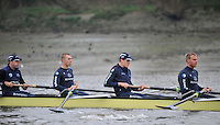Putney, GREAT BRITAIN,  Oxford University BC. OUBC,. Thursday morning training session, Tideway week. Championship course. Putney/Mortlake, Thursday   05/04/2012 [Mandatory Credit, Peter Spurrier/Intersport-images]..OUBC Crew: left to right  3. Kevin Baum, 4. Alex Davidson, 5. Karl Hudspith, 6. Dr. Hanno Wienhausen,