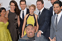 Magic Mike XXL stars Jada Pinkett Smith (left), Andie MacDowell, Matt Bomer, Elizabeth Banks, Channing Tatum, Adam Rodriguez &amp; Gabriel Iglesias (front) at the world premiere of their movie &quot;Magic Mike XXL&quot; at the TCL Chinese Theatre, Hollywood.<br /> June 25, 2015  Los Angeles, CA<br /> Picture: Paul Smith / Featureflash