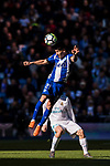 Hernan Arsenio Perez of Deportivo Alaves heads the ball during the La Liga 2017-18 match between Real Madrid and Deportivo Alaves at Santiago Bernabeu Stadium on February 24 2018 in Madrid, Spain. Photo by Diego Souto / Power Sport Images