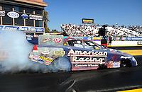 Feb. 17 2012; Chandler, AZ, USA; NHRA funny car driver Tony Pedregon during qualifying for the Arizona Nationals at Firebird International Raceway. Mandatory Credit: Mark J. Rebilas-