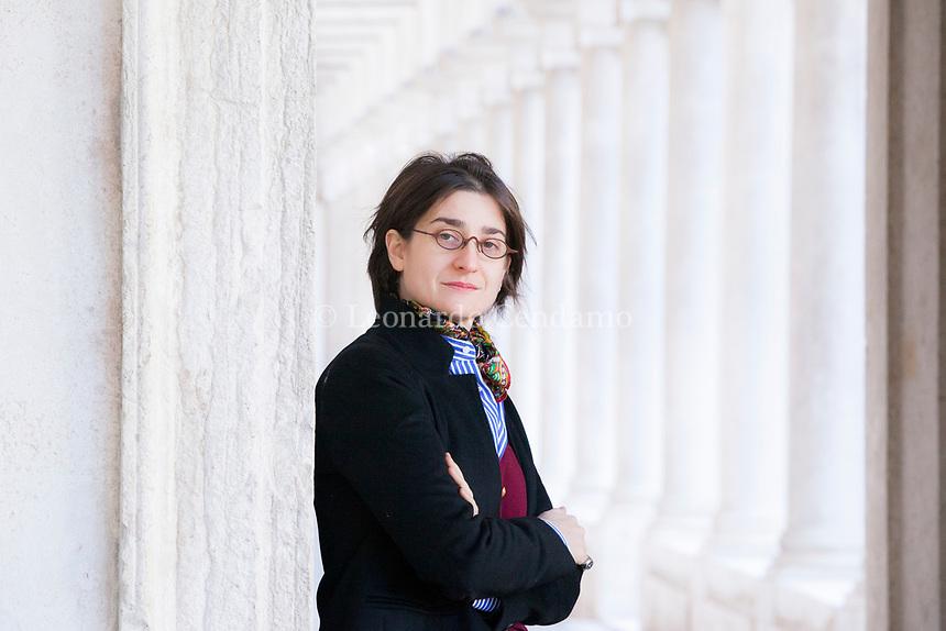 """Chiara Valerio, nata a Scauri nel 1978, vive e lavora a Roma. Redattrice di Nuovi Argomenti ha scritto per il teatro e per la radio, collabora con """"ll Sole ... Veezia 25 gennaio 2019. ©"""