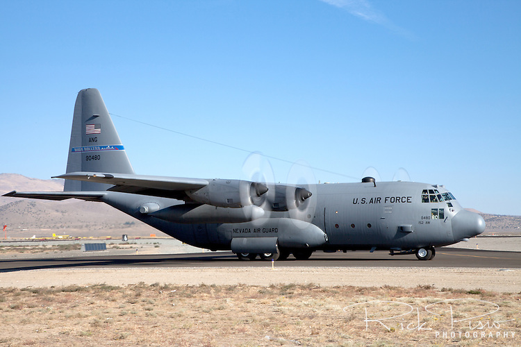 Lockheed C-130 Hercules of the 152nd Airlift Wing, Nevada Air National Guard, based in Reno, Nevada.