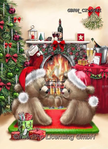 Roger, CHRISTMAS ANIMALS, WEIHNACHTEN TIERE, NAVIDAD ANIMALES, paintings+++++,GBRMCX-0061,#xa#