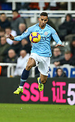 29th January 2019, St James Park, Newcastle upon Tyne, England; EPL Premier League football, Newcastle United versus Manchester City; Danilo of Manchester City controls the ball off his chest