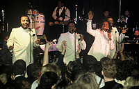Gladys Knight and the Pips performing at Boston Against AIDS at the Metro in Boston MA 12.9.86