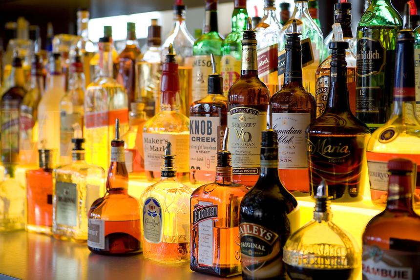 Bar liquor display