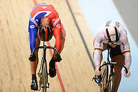 CHRIS HOY (GBR) and ROBERT FOERSTEMANN (GER) race in the quarterfinals of the Men's Sprint event on day 3 of the 2012 UCI Track Cycling World Championships at Hisense Arena in Melbourne, Australia. Photo Sydney Low. Copyright 2012 Sydney Low. All rights reserved. No reproduction permitted. Access via FlickrAPI not permitted...Please contact ZUMApress.com for editorial licensing:.Phone +1.949.481.3747  -  fax +1.949.481.3941  -  zuma-info@ZUMAPress.com .408 N. El Camino Real, San Clemente, California, 92672 USA